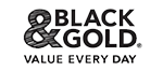 Black and Gold - Value every day logo